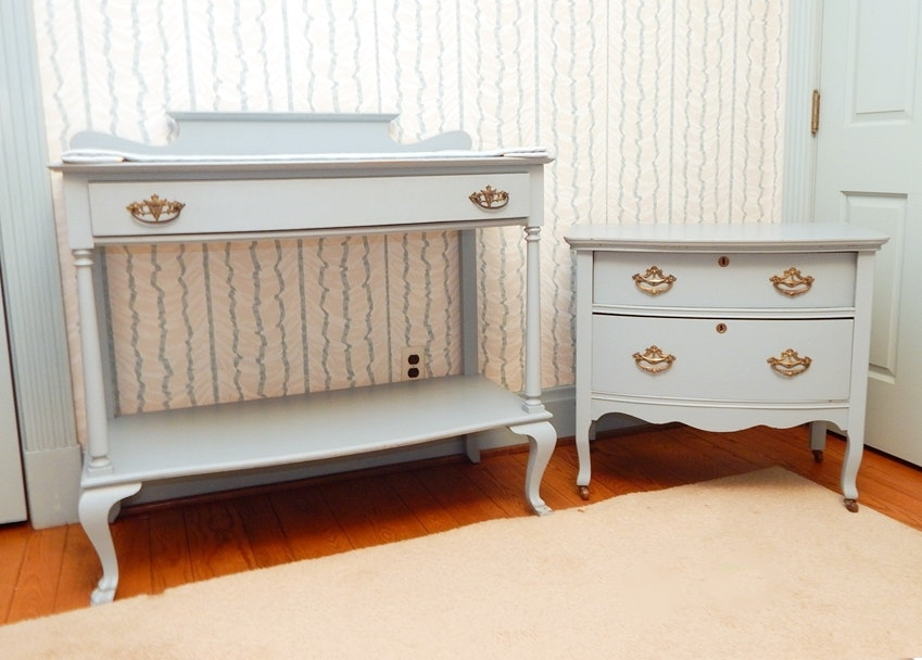 Vintage 1940s Baby Changing Table And Nursery Dresser