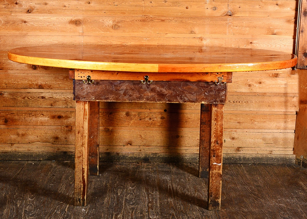... Furniture Consignment Louisville Ky By Large Oval Lacquered Top Pine  Table Ebth ...