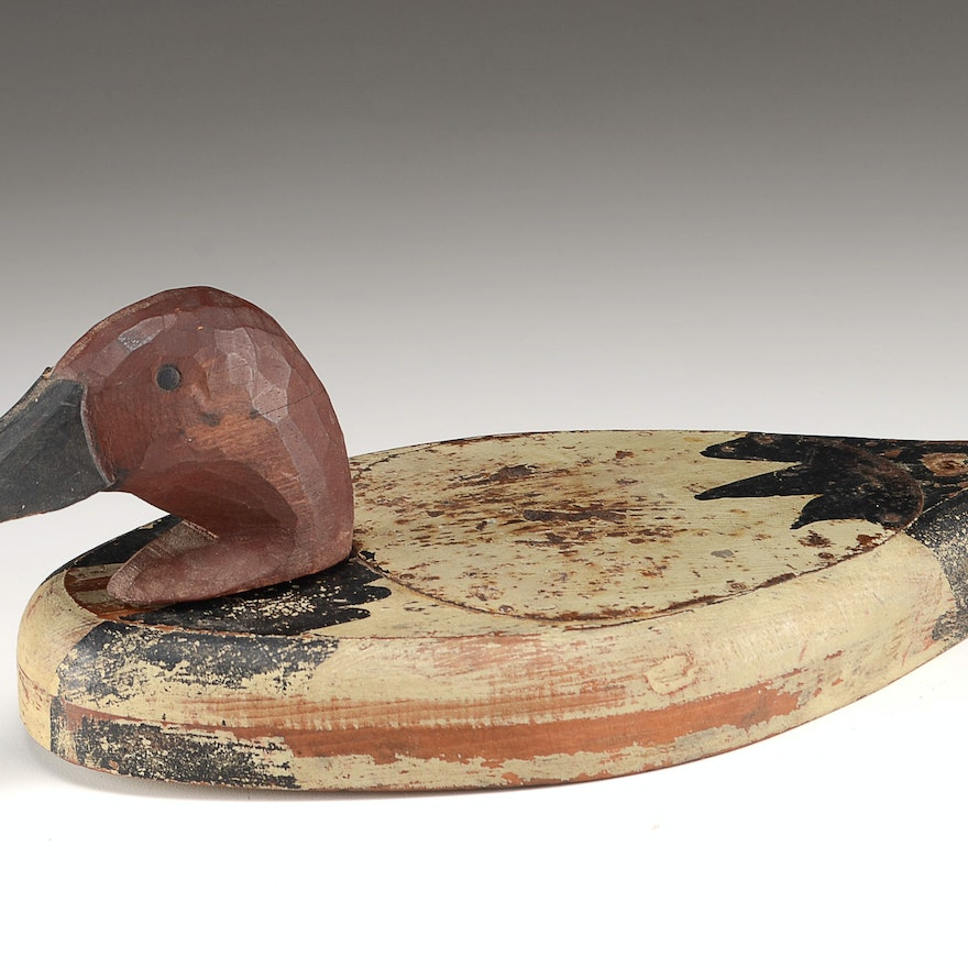 Hand Crafted Flat Decoy Duck