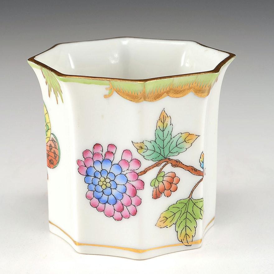 Herend Hungary Porcelain Toothpick Holder