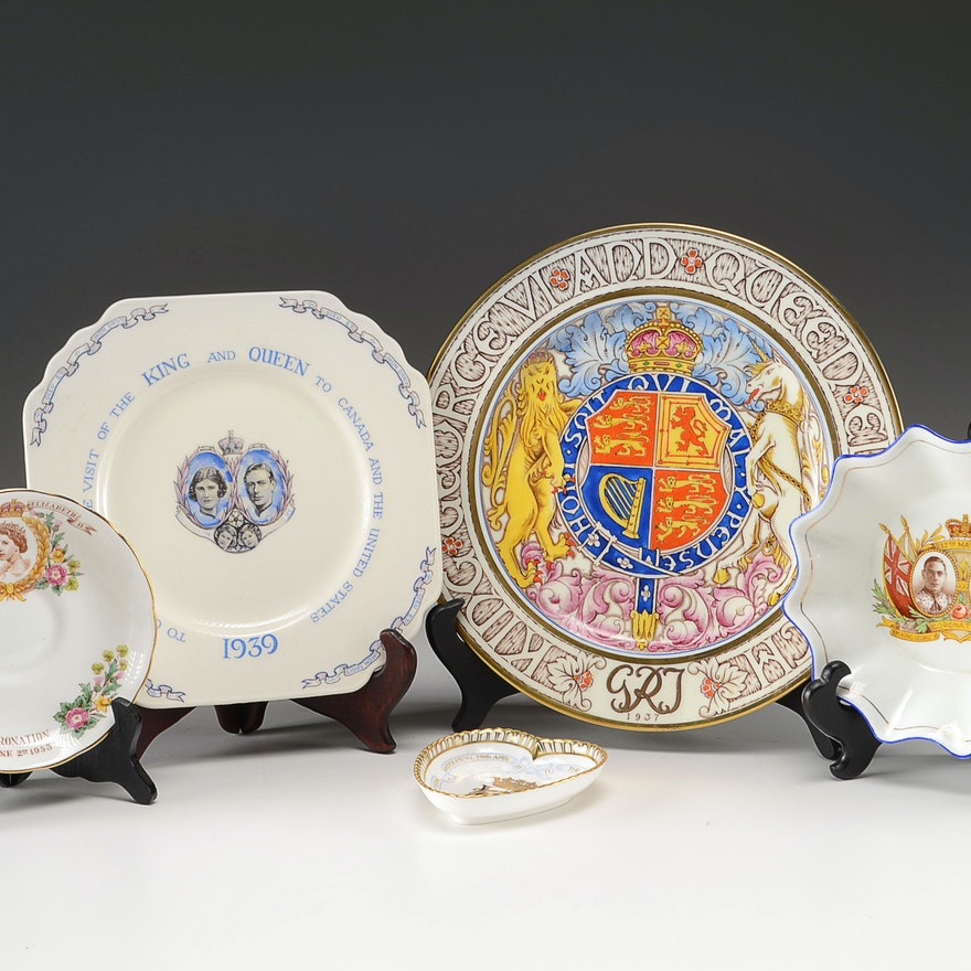 Commemorative English Royal Plates and Bowls