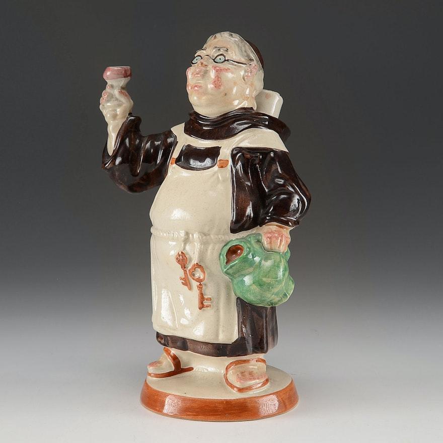 Vintage 1969 Barsottini Figural Friar Decanter