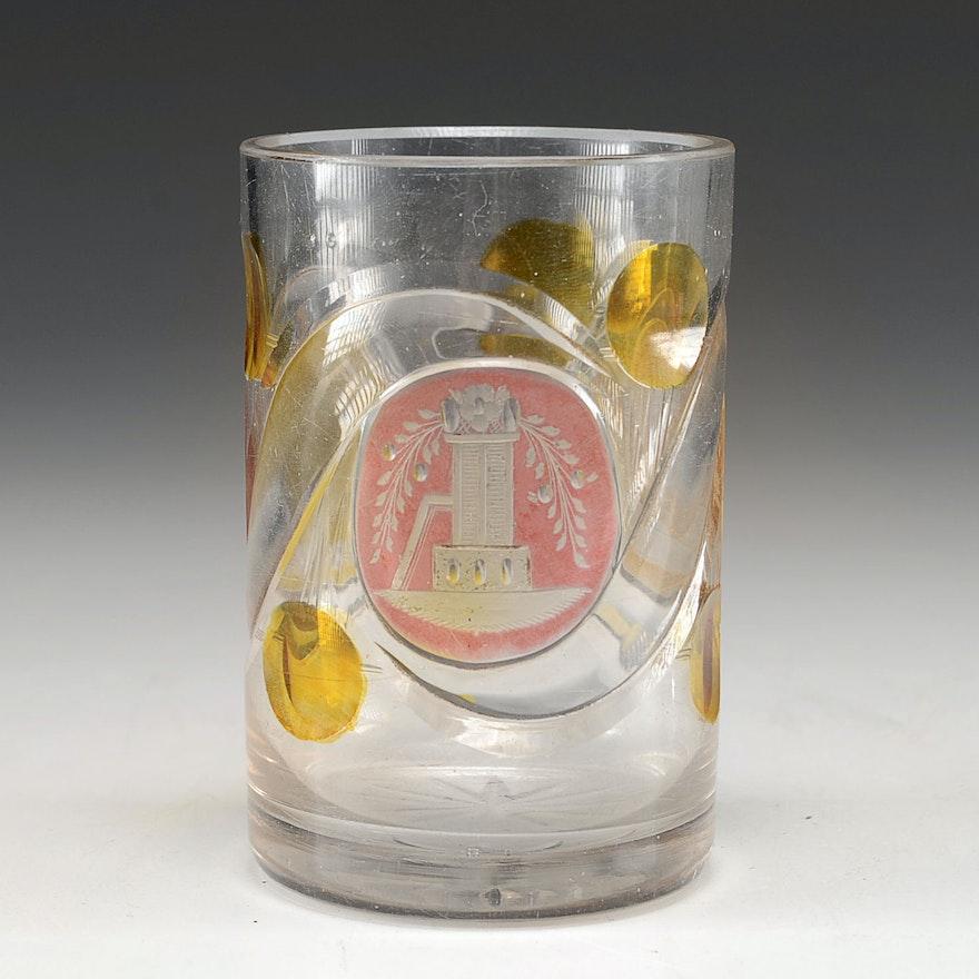 Antique Bohemian Cabinet Glass