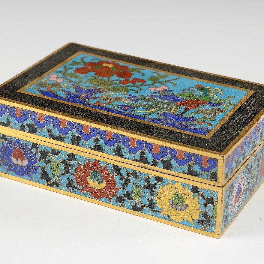 Asian Cloisonné Trinket Box