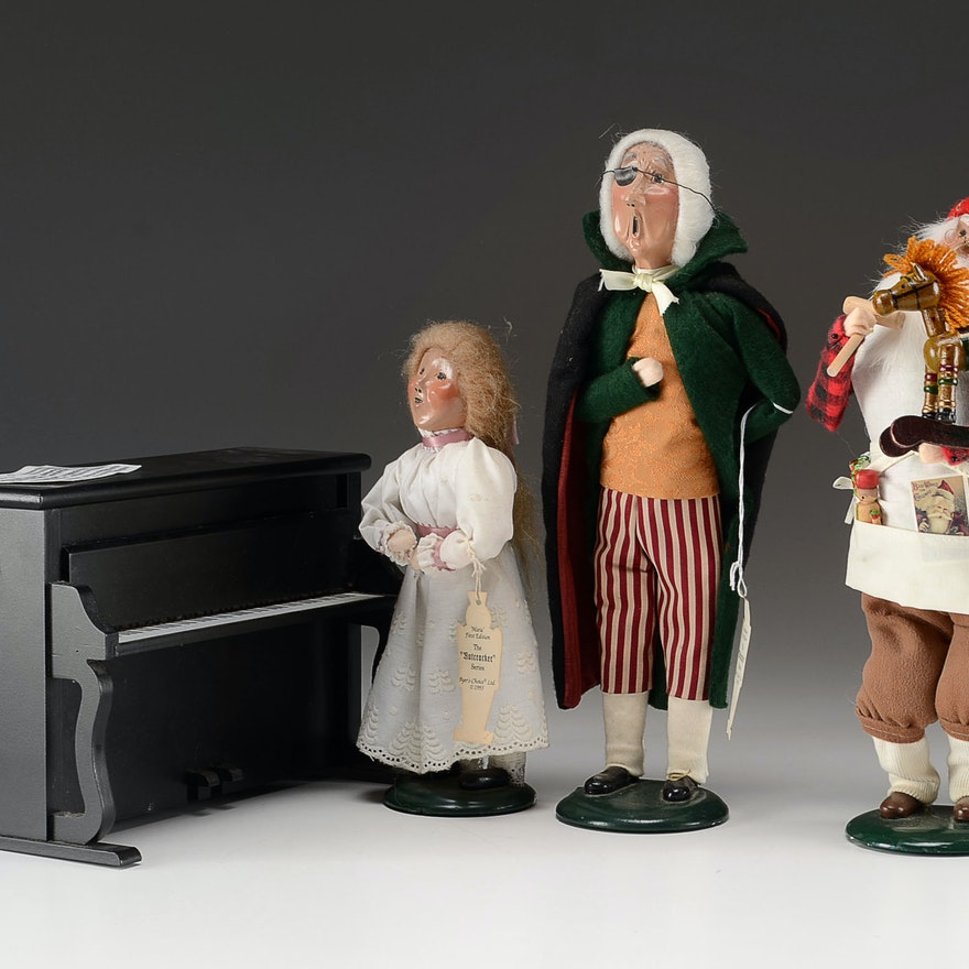 "Byer's Choice ""Nutcracker"" Carolers and Santa Caroler"