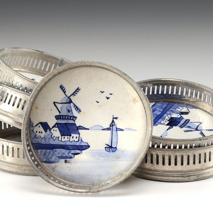 Set of Six Delft Coasters