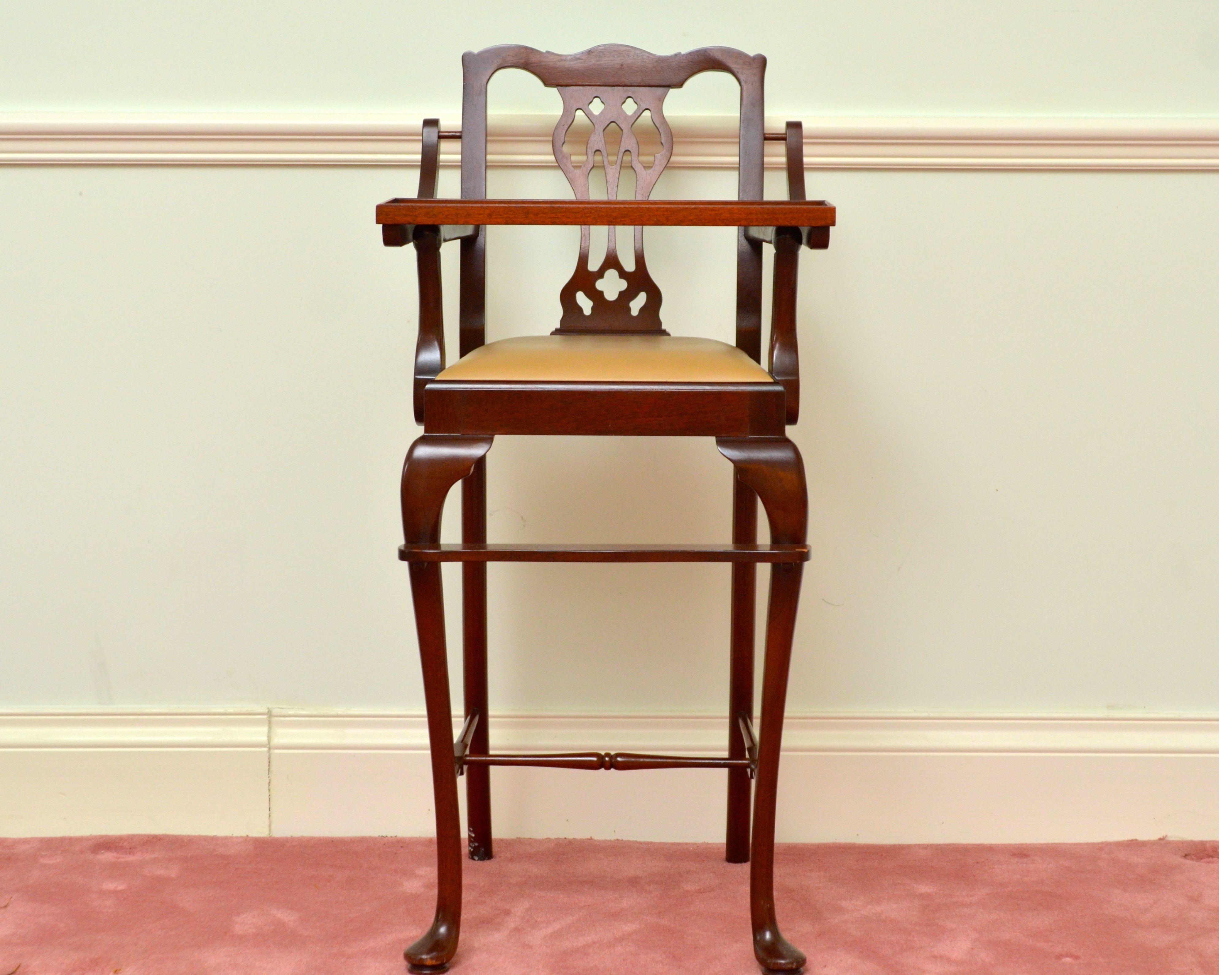 Queen Anne Style Mahogany Childu0027s High Chair ...
