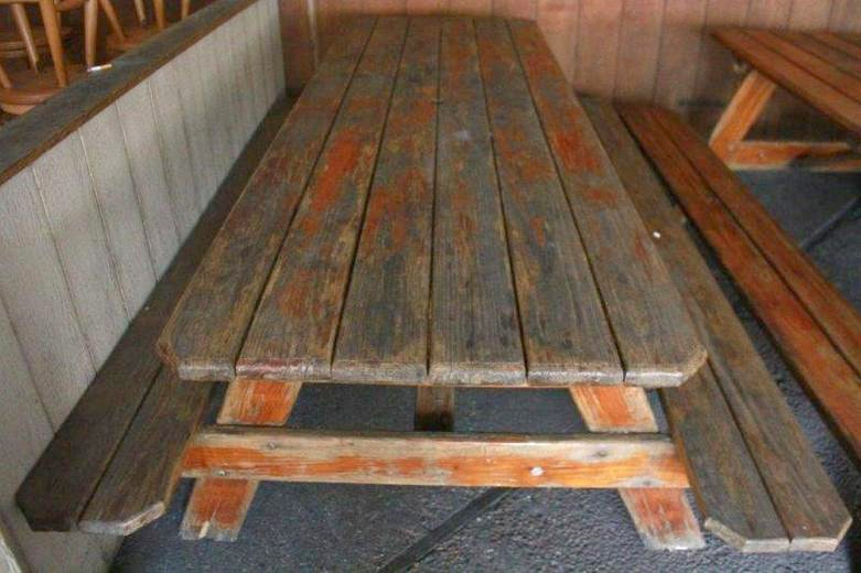 Amish Made Large Wooden Picnic Table