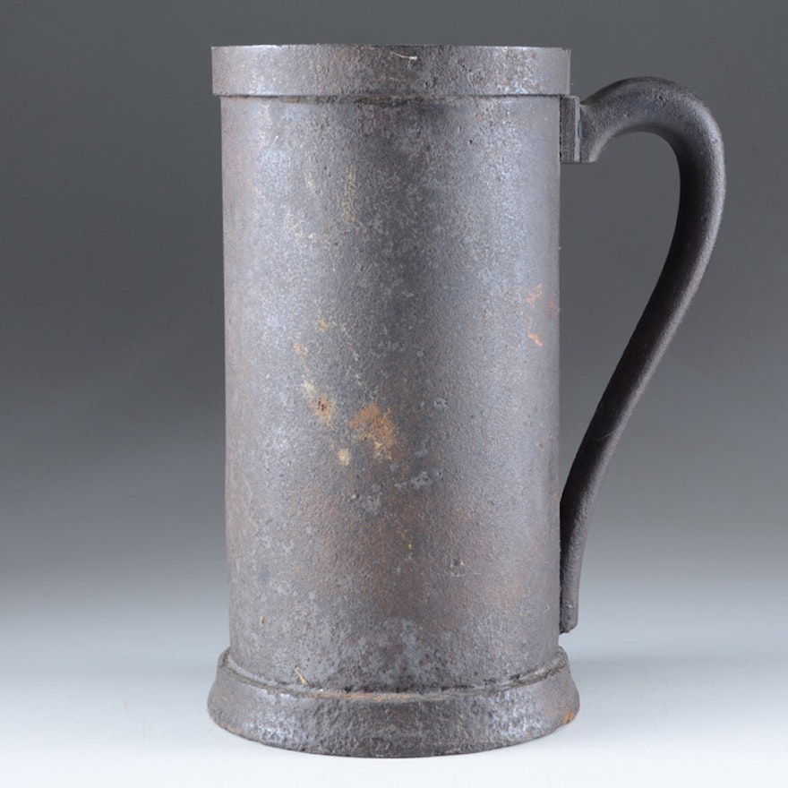 Early 20th Century Cast Iron Stein