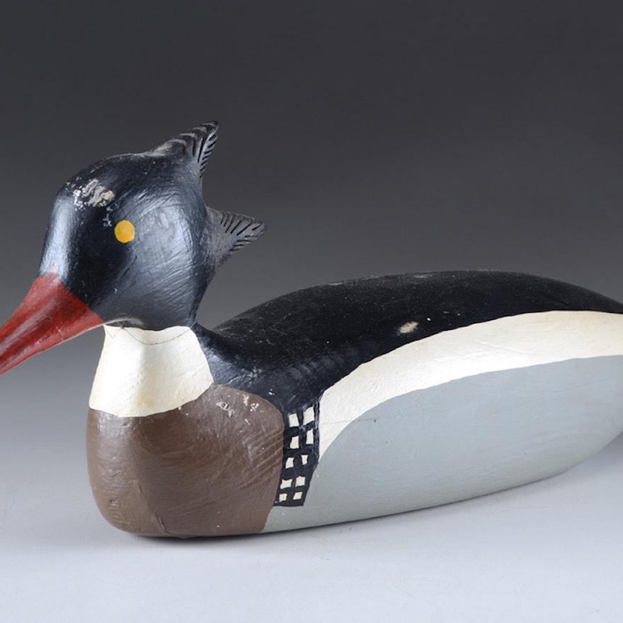Signed Wood Decoy Duck