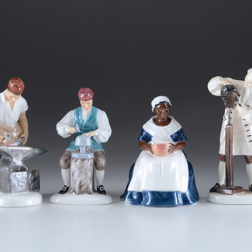 Four Royal Doulton Figurines From Williamsburg