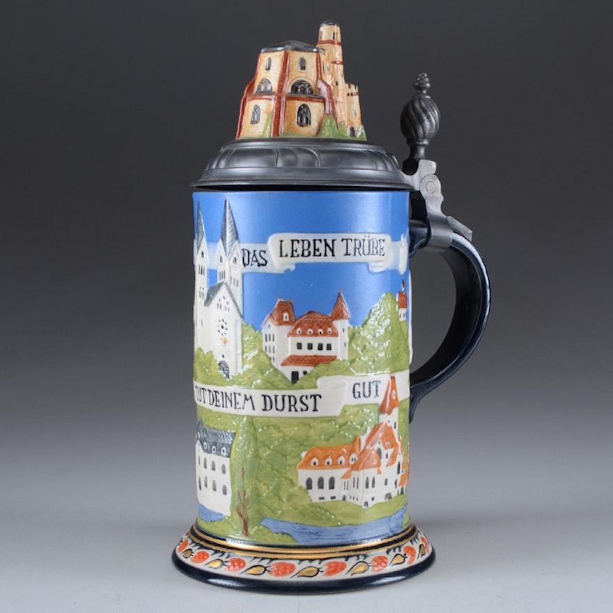 Vintage Villeroy & Boch Mettlach Limited Edition Stein