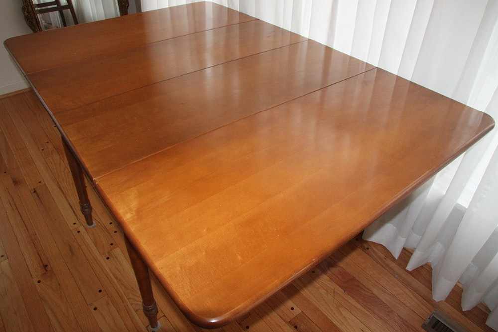 Antique St Johns Table Company Maple Drop Leaf Table Ebth