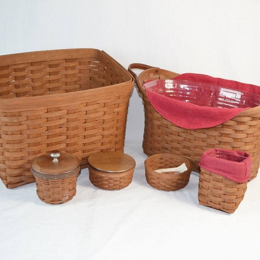 Six Longaberger Baskets