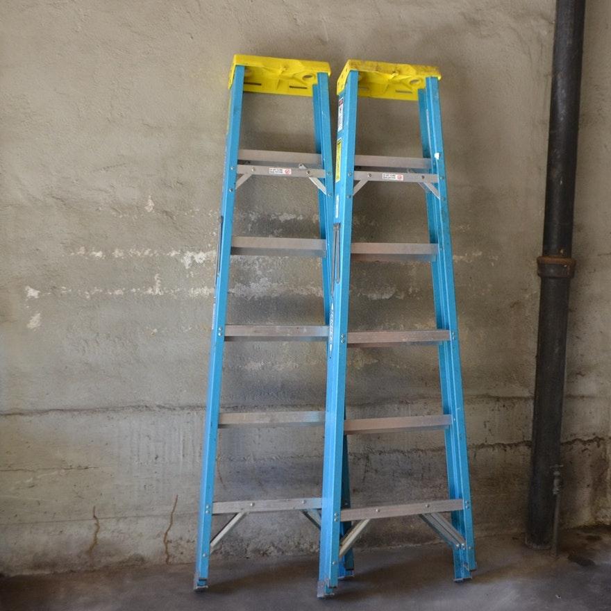 Pair of 6 Foot Werner Electro-Master Step Ladders