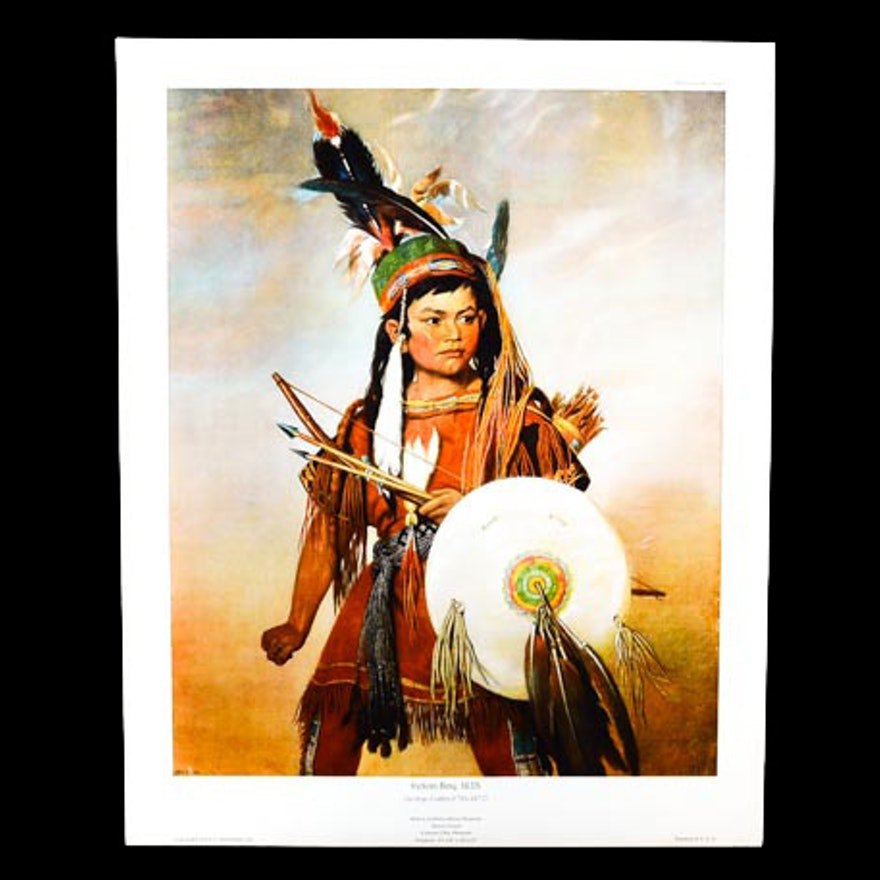 "George Catlin Giclée Print ""Indian Boy"""