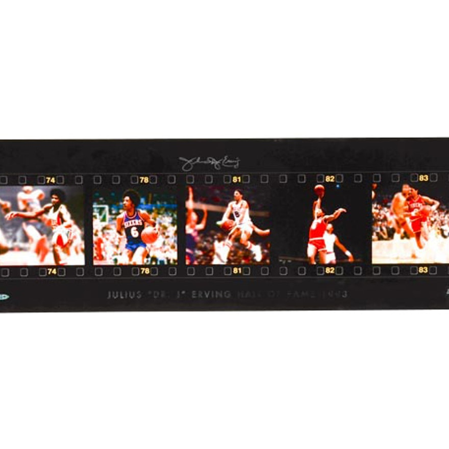 Julius Erving Signed Upper Deck Display  COA