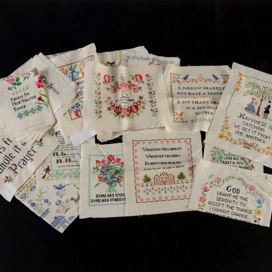 Over Forty Pieces of Embroidery