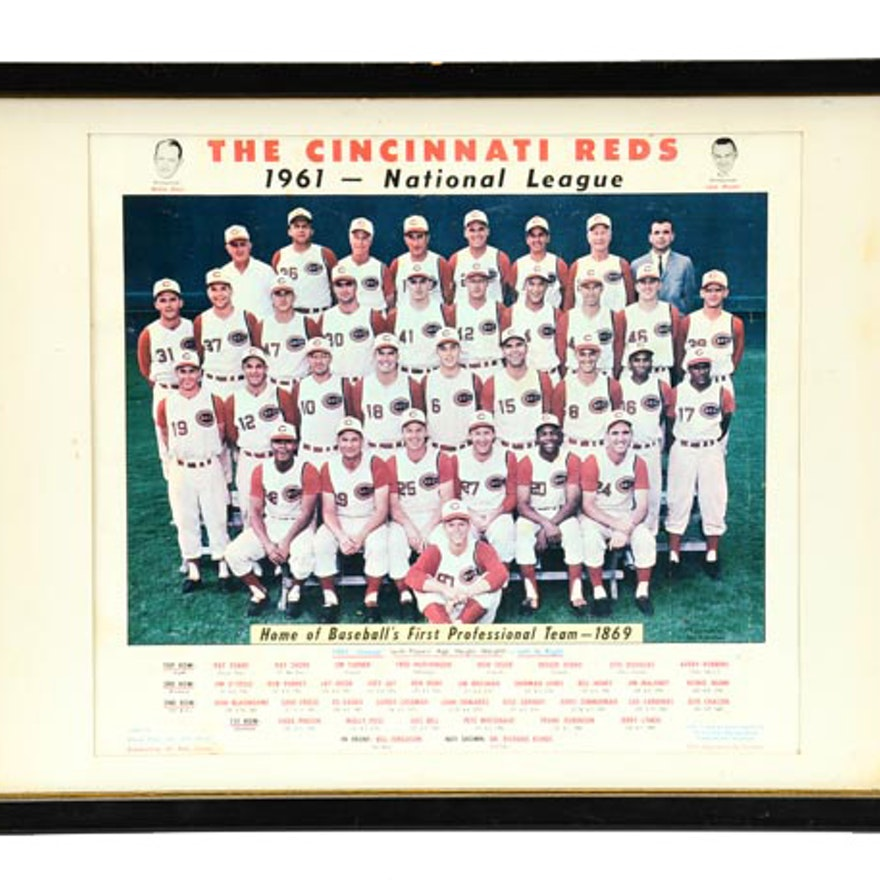 1961 Reds Team Framed Picture