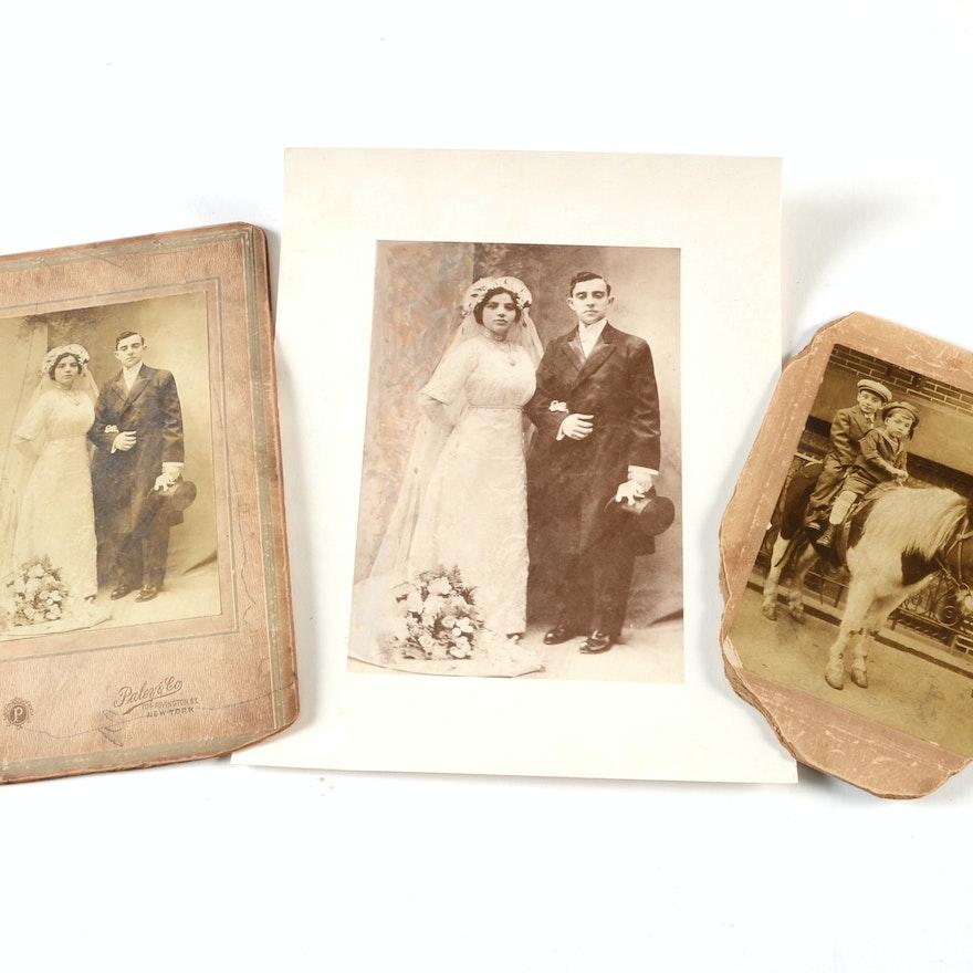 Lot of 3 Vintage Sepia Tone Photographs
