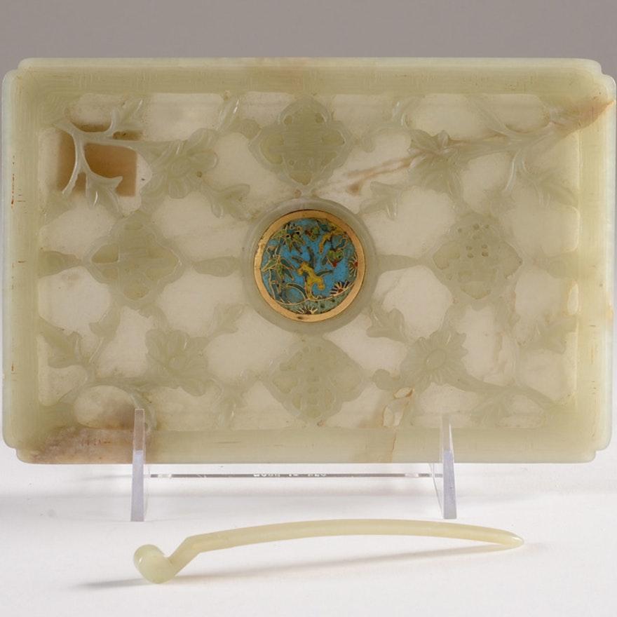 """Chinese """"Wan Shou Chang Chun"""" Decorative Furniture Panel"""