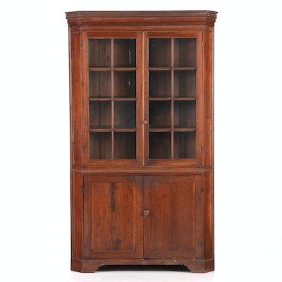 Early 19th Century Virginia Corner Cupboard - Online Furniture Auctions Vintage Furniture Auction Antique