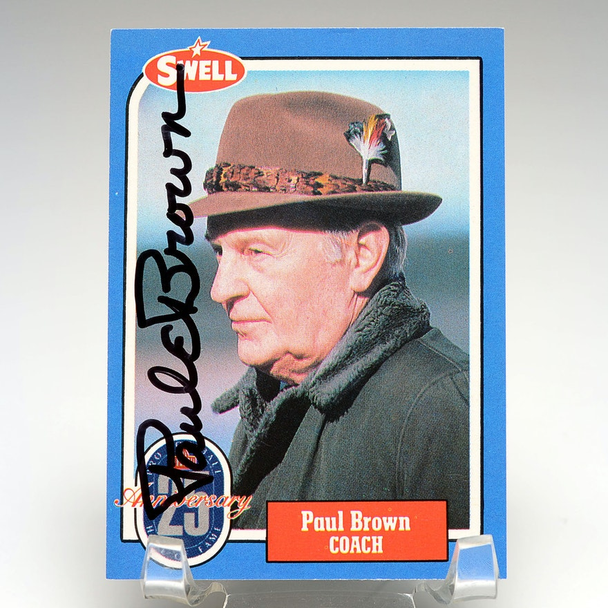 Bengal's Founder Paul Brown Signed Football Card