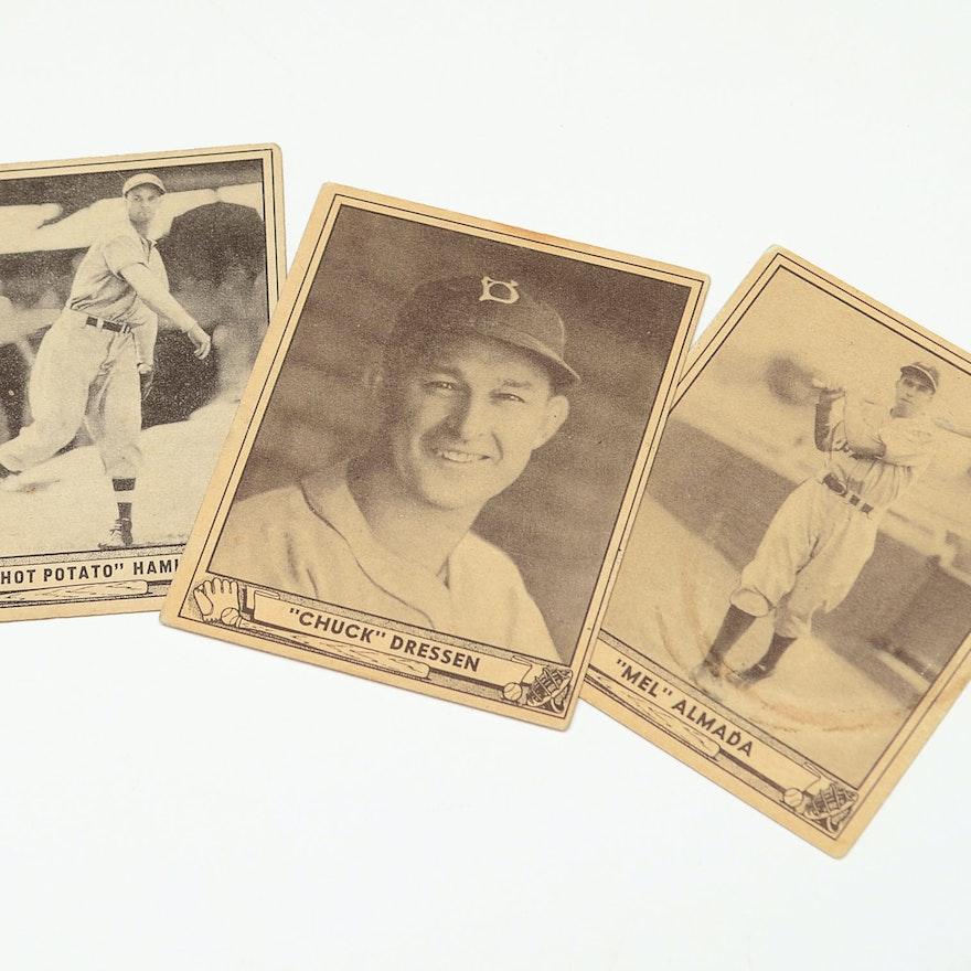 Hamlin, Almada, Dressen Playball Baseball Cards