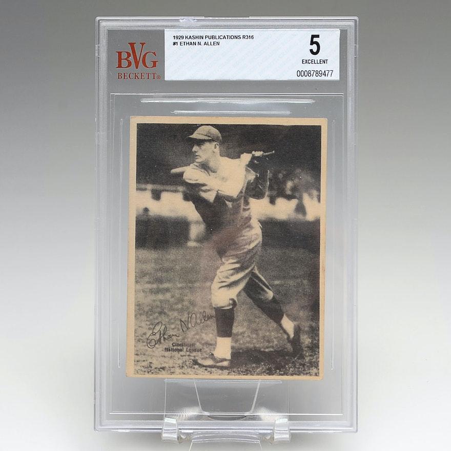 1929 Ethan Allen Reds Kashin Baseball Card BVG 5