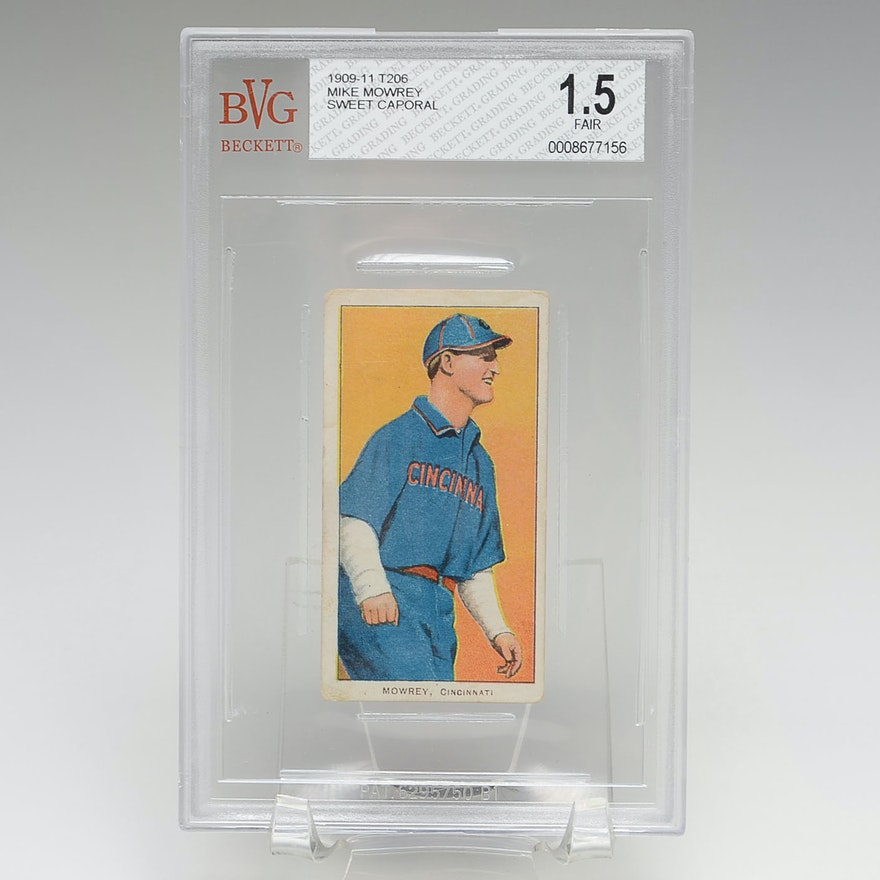 Mike Mowrey T206 Graded Card