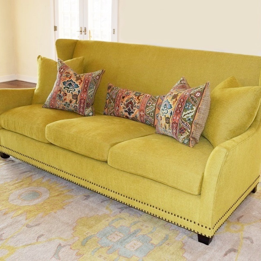 Surprising Custom Designed Bernhardt Sofa With Accent Pillows Home Interior And Landscaping Ponolsignezvosmurscom