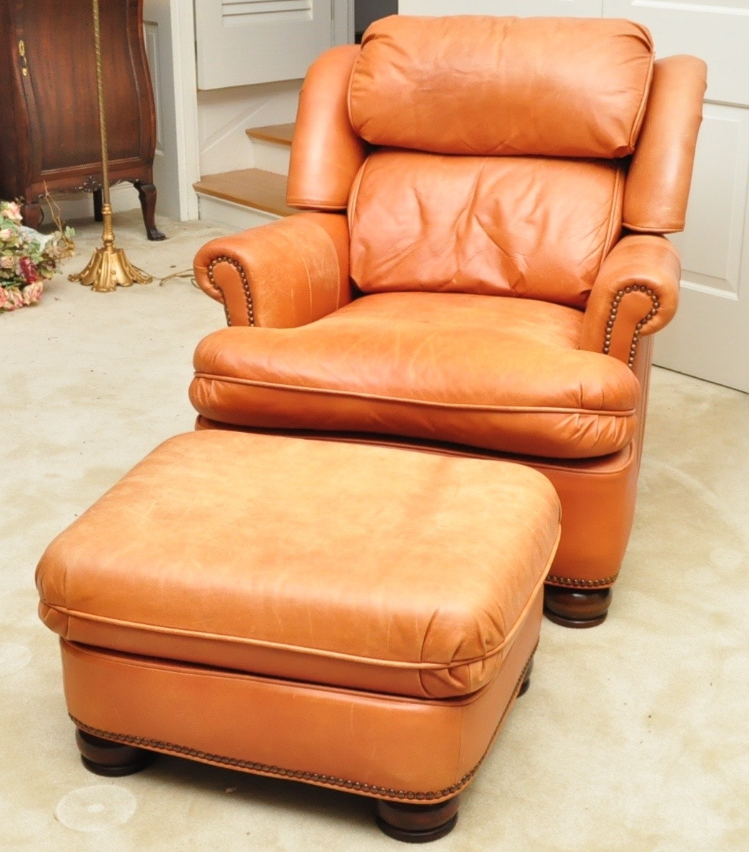 Attirant Drexel Heritage Club Chair Recliner And Ottoman ...