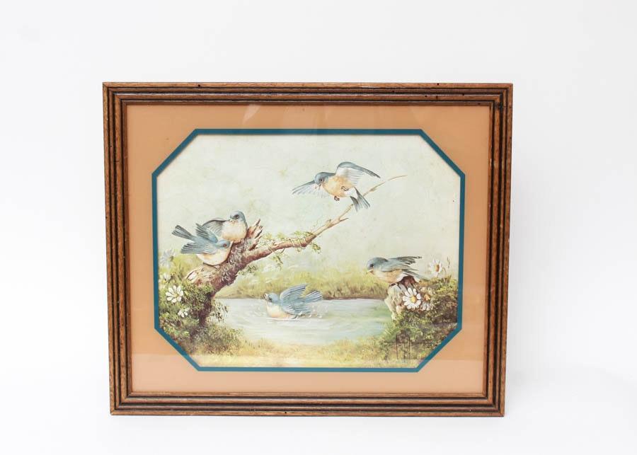 Framed Margie Morrow Lithograph Ebth