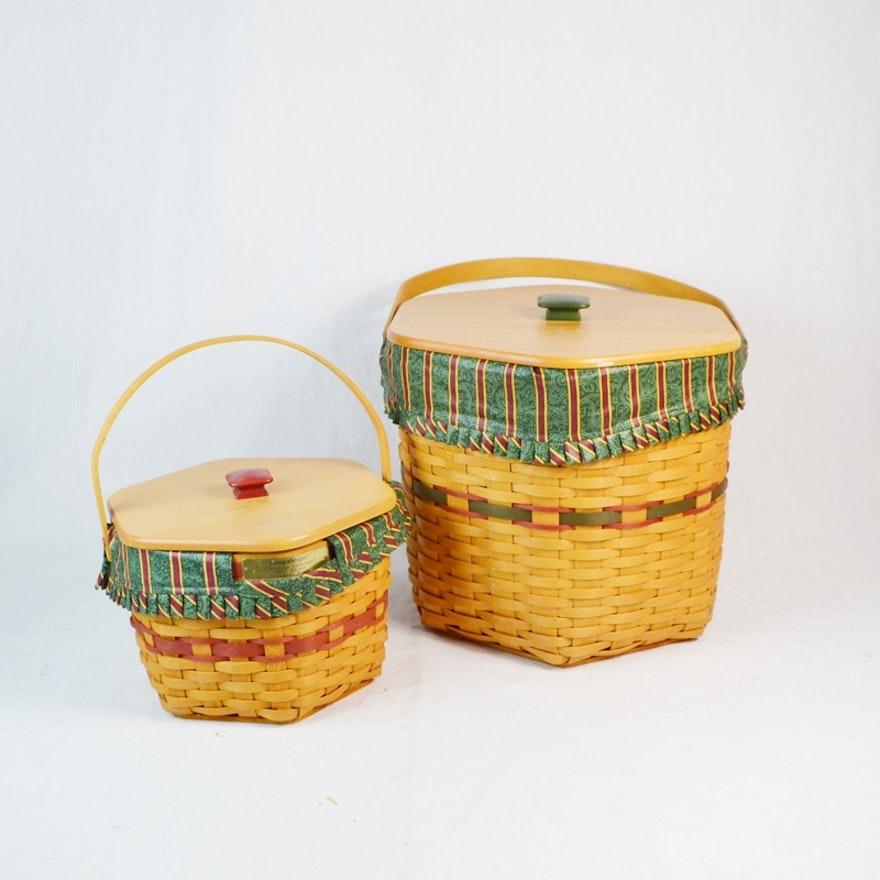Two Longaberger Snowflake Baskets