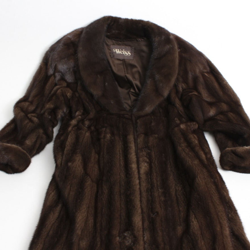 f908e92a0a9 Vintage Yves Saint Laurent for Weiss Mink Coat : EBTH