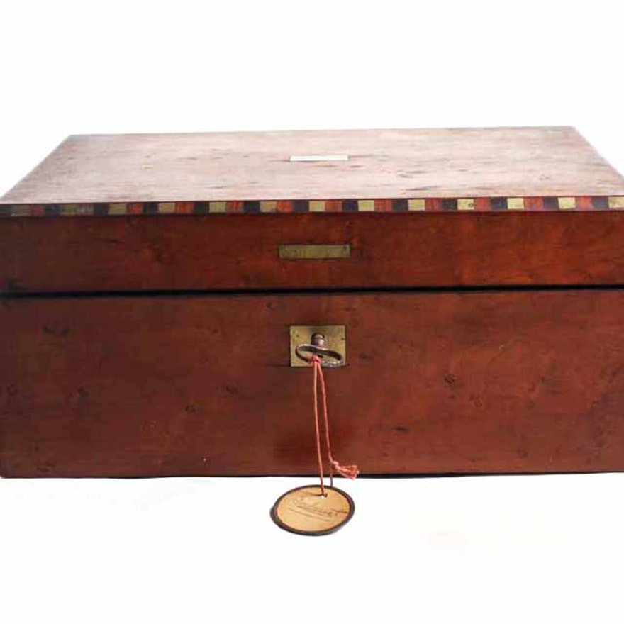 Antique Wooden Traveling Writing Desk