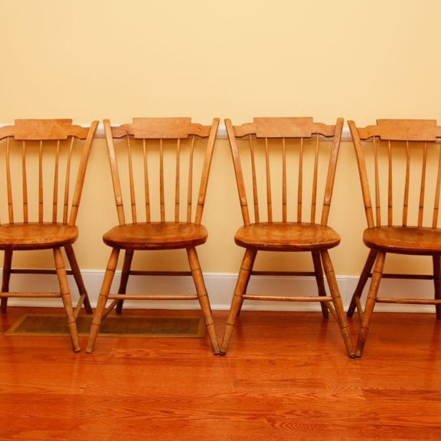 Four Antique Maple Chairs by Conant Ball : EBTH