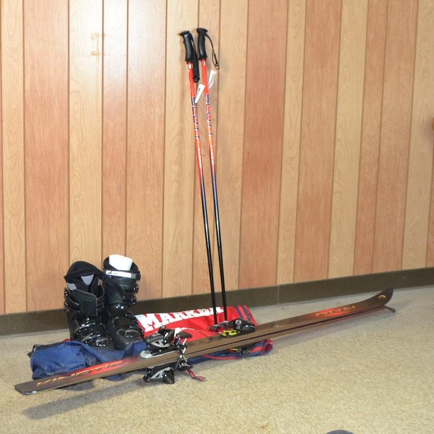 Snow Skis, Men's Ski Boots, & Ski Poles