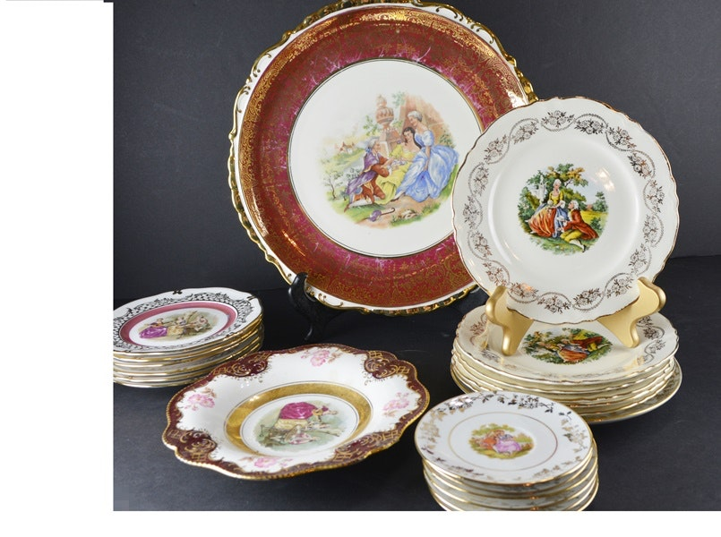 Homer Laughlin Plates and Other Rococo Style Plates ... & Homer Laughlin Plates and Other Rococo Style Plates : EBTH
