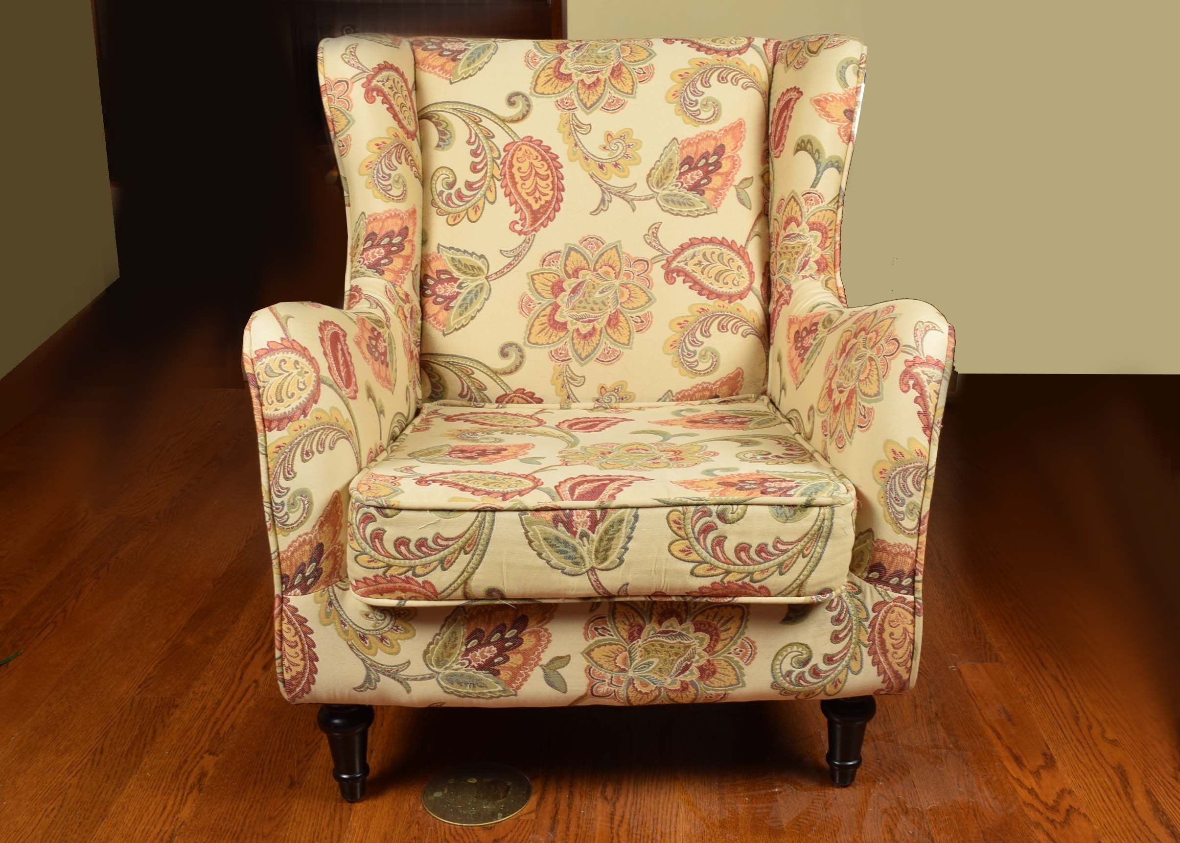 pier one paisley wingback chair