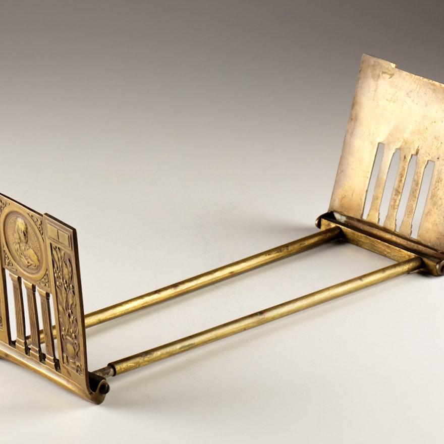 Antique Brass Adjustable Bookends