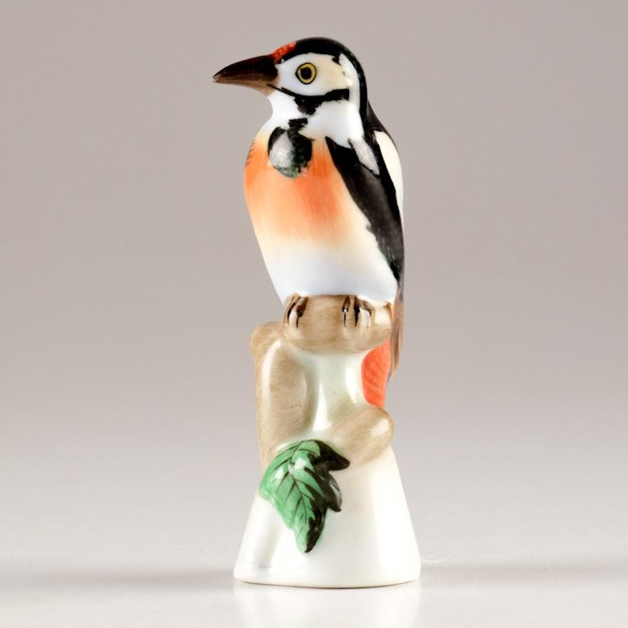 Herend Hungary Hand Painted Bird Figurine