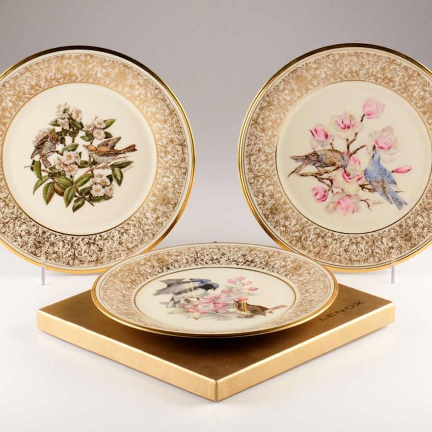 "Set of Four Lenox ""Boehm Birds"" Plates"