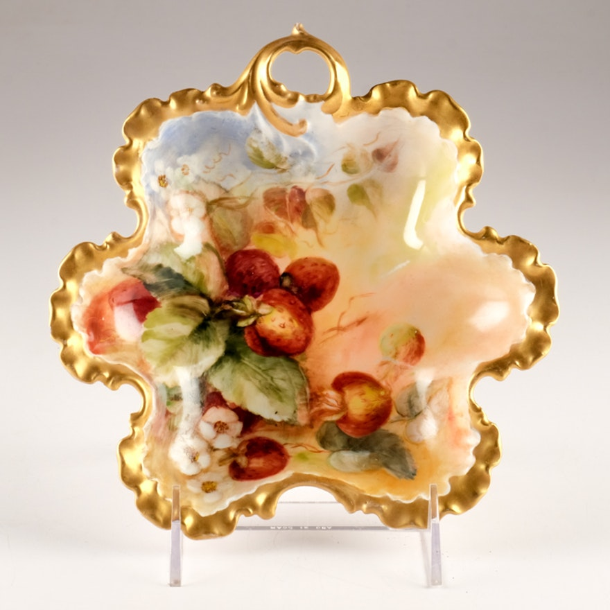 Antique Rosenthal Hand Painted Gilt Candy Dish