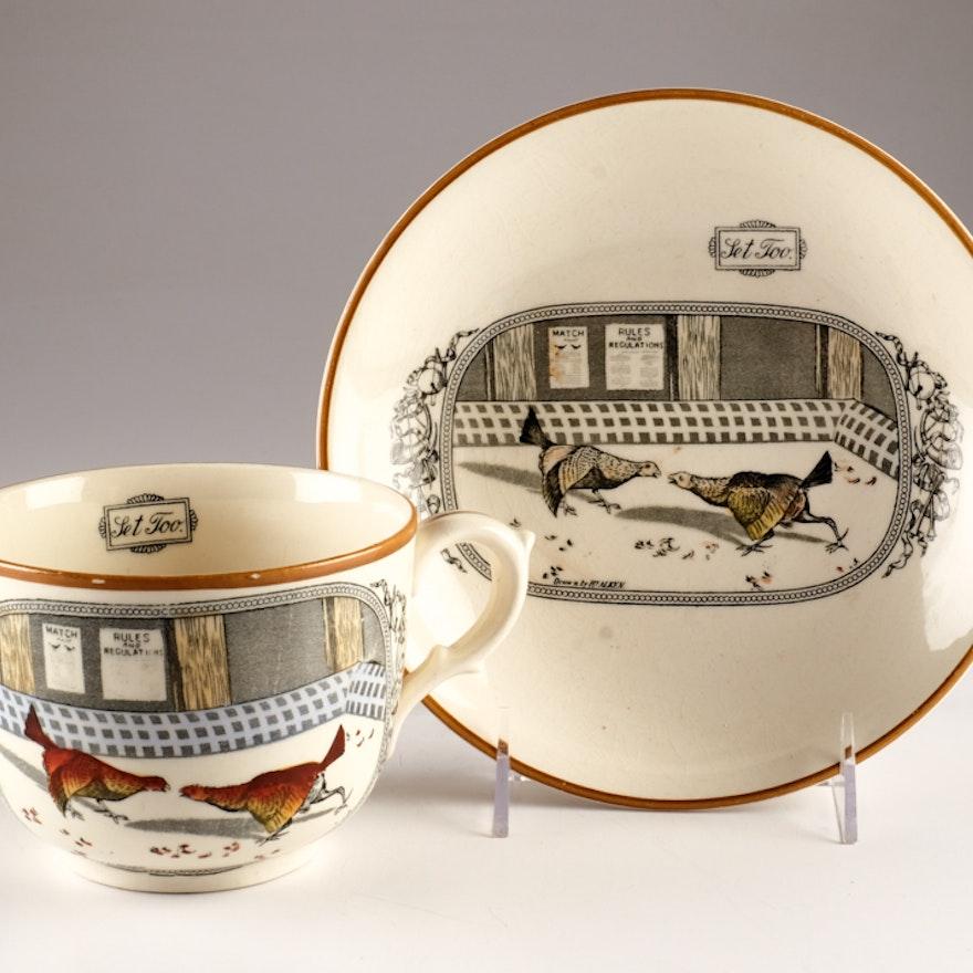 """Adams China """"Old English Sports"""" Bowl and Mug"""