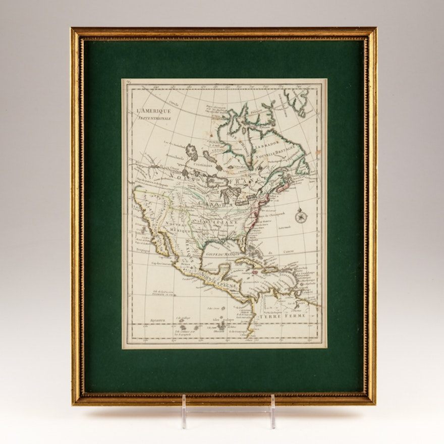1748 French Map of North America