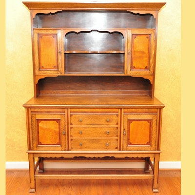 1920s Welsh Dresser Cabinet Office Furniture Auction Glasgow