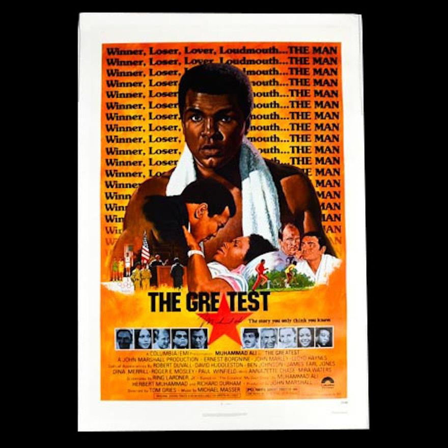Muhammad Ali Signed Movie Poster on Canvas