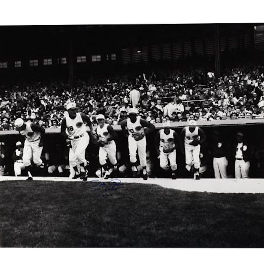 Pete Rose Signed First Game Photo  COA