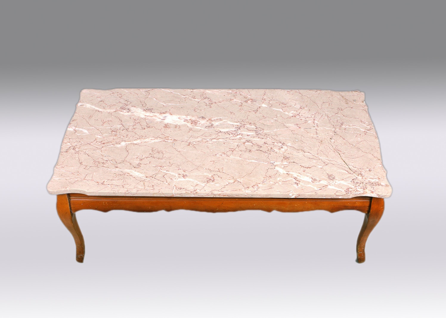 Marble Top Queen Anne Coffee Table ...